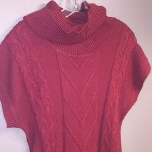 NY & Co burgundy sweater dress (M)